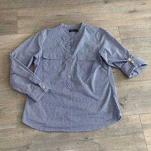Ivanka Trump Blue Gingham Shirt (w stretch!) Med